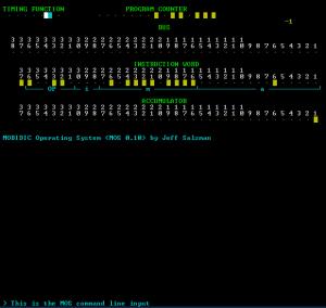 MOBIDIC Terminal Screen