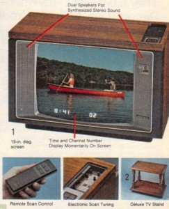 Color TV w/remote