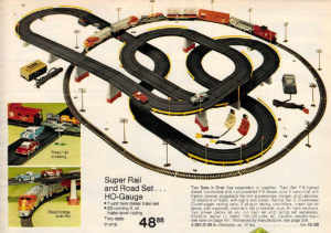 HO Slot Car Train Set