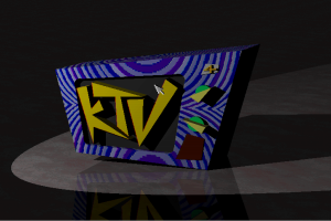 KTV Logo done in Real 3D