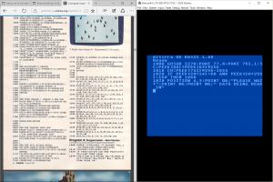 COMPUTE! magazine and Atari emulator side-by-side